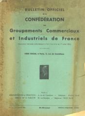 BULLETIN OFFICIEL DE LA CONFEDERATION DES GROUPEMENTS COMMERCIAUX ET INDUSTRIEL DE FRANCE. 35eme année - N°2 - Couverture - Format classique