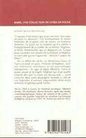 La fontaine d'heghnar - 4ème de couverture - Format classique