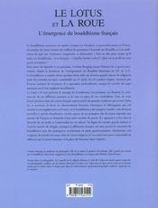 Le lotus et la roue ; l'emergence du bouddhisme francais - 4ème de couverture - Format classique