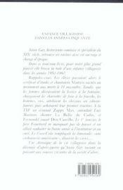 Enfance Villageoise Dans Les Annees Cinquante - 4ème de couverture - Format classique