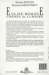 Eglise romane. chemin de lumiere - 4ème de couverture - Format classique