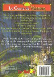 Shrek - la Moche au bois dormant - 4ème de couverture - Format classique
