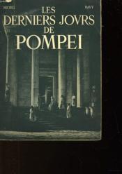 Les Derniers Jours De Pompei - Couverture - Format classique