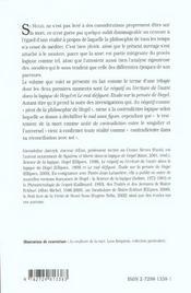 Au Confluent De La Mort L'Universel Et Le Singulier Dans La Philosophie De Hegel - 4ème de couverture - Format classique