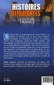 Histoires effrayantes de l'histoire de france - 4ème de couverture - Format classique