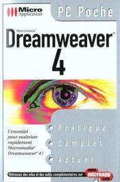 Pc poche dreamweaver 4 - Intérieur - Format classique