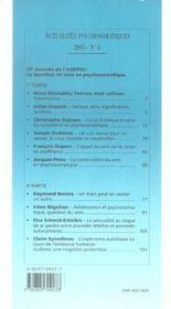 Actualites Psychosomatiques T.8 ; La Question Du Sens En Psychosomatique - 4ème de couverture - Format classique