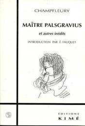 Maitre Palsgravius - Couverture - Format classique