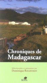 Chroniques de Madagascar - Intérieur - Format classique