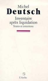 Inventaire Apres Liquidation - Couverture - Format classique