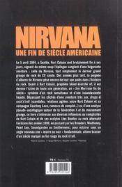 Nirvana Une Fin De Siecle Americaine - 4ème de couverture - Format classique