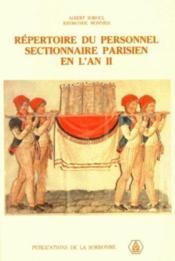 Répertoire du personnel ; sectionnaire parisien en l'an II - Couverture - Format classique