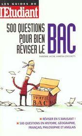 500 Questions Pour Reviser Le Bac - Intérieur - Format classique