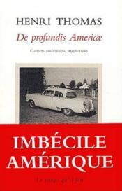 De Profundis America - Couverture - Format classique