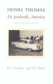 De Profundis America - Intérieur - Format classique