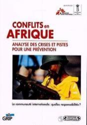 Conflits en afrique : analyse des crises et pistes pour une prevention - Couverture - Format classique