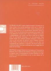 Retour Du Reel (Le) - 4ème de couverture - Format classique
