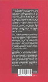 Le Feu D'Heraclite ; Scenes D'Une Vie Devant La Nature - 4ème de couverture - Format classique