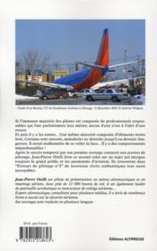 Erreurs de pilotage t.2 - 4ème de couverture - Format classique