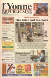 Yonne Republicaine (L') N°186 du 13/08/2001 - Couverture - Format classique