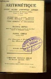 Arithmetique - Cours Moyen (Premiere Annee) - Couverture - Format classique
