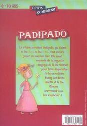 Padipado ; 8/10 ans - 4ème de couverture - Format classique