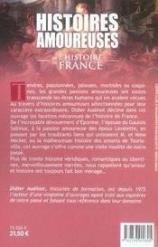 Histoires amoureuses de l'histoire de france - 4ème de couverture - Format classique