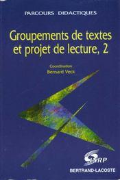 Groupements Textes Et Projet Lect.T2 - Intérieur - Format classique