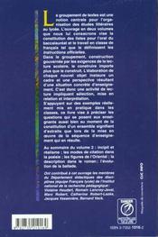 Groupements Textes Et Projet Lect.T2 - 4ème de couverture - Format classique