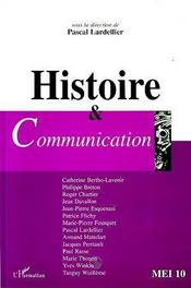 Histoire et communication - Couverture - Format classique