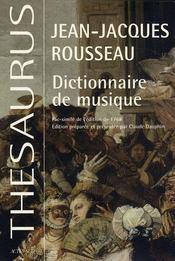 Dictionnaire De Musique - Intérieur - Format classique