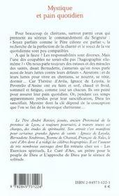 Mystique Et Pain Quotidien - 4ème de couverture - Format classique