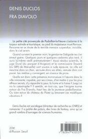 Fra Diavolo - 4ème de couverture - Format classique