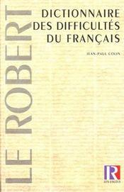 Le Dictionnaire Des Difficultes Du Francais ; 10e Edition Reliee - Intérieur - Format classique
