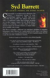 Syd Barrett Le Genie Perdu Du Pink Floyd - 4ème de couverture - Format classique