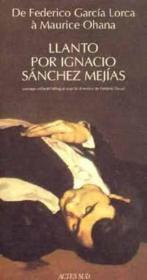 Llanto por ignacio sanchez mejias - Couverture - Format classique