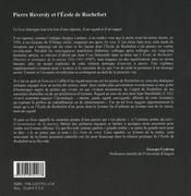 Pierre Reverdy et l'école de Rochefort - 4ème de couverture - Format classique