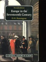 Europe In The Seventeenth Century - Couverture - Format classique
