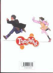 Transparent - Tome 04 - 4ème de couverture - Format classique