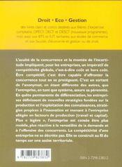 La Competitivite De L'Entreprise L'Obsession De La Firme Allegee - 4ème de couverture - Format classique