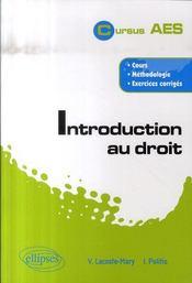 Introduction au droit - Intérieur - Format classique