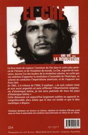 El che, une vie pour la révolution - 4ème de couverture - Format classique