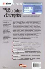 E-poche guide creation d'entreprise - 4ème de couverture - Format classique