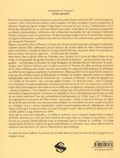 Ecrits Essentiels :Le Pigeon Egyptien - 4ème de couverture - Format classique