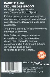 L Ecume Des Brocci - 4ème de couverture - Format classique