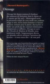 Dressage - 4ème de couverture - Format classique