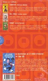 Coffret Generation Rock Francais ; Indochine, Noir Desir, Zebda - 4ème de couverture - Format classique