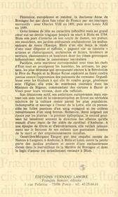 Anne De Bretagne : Jardins Secrets - 4ème de couverture - Format classique