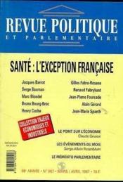 Revue Politique Et Parlementaire N°987 - Sante : L'Exception Francaise - Couverture - Format classique