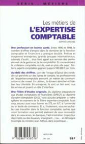 Les Metiers De L'Expertise Comptable 1999 - 4ème de couverture - Format classique